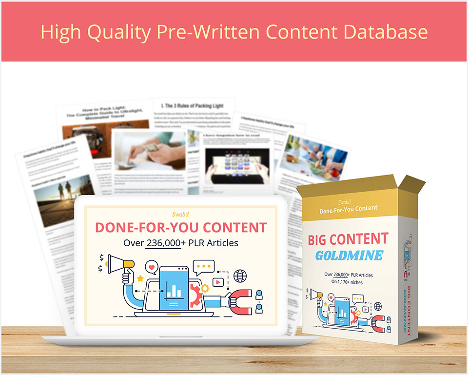 Big Content Goldmine PLR Articles Database Package