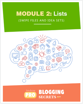 Pro-Blogging Secrets Kit Module 2